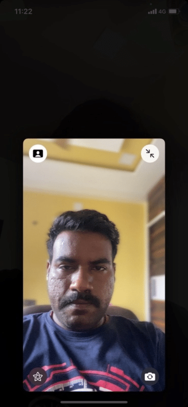 Blurry background in Facetime call in iOS 15