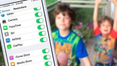 شرح طريقة تمكين واستخدام القيود في iOS 11 و iOS 10 على الايفون والايباد
