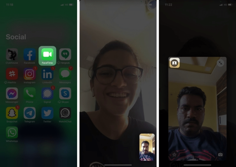 Blur the background in a video call on FaceTime in iOS 15